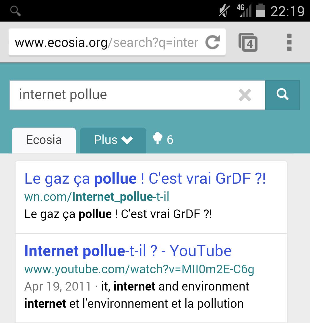 Rechercher pourquoi internet pollue, ça pollue