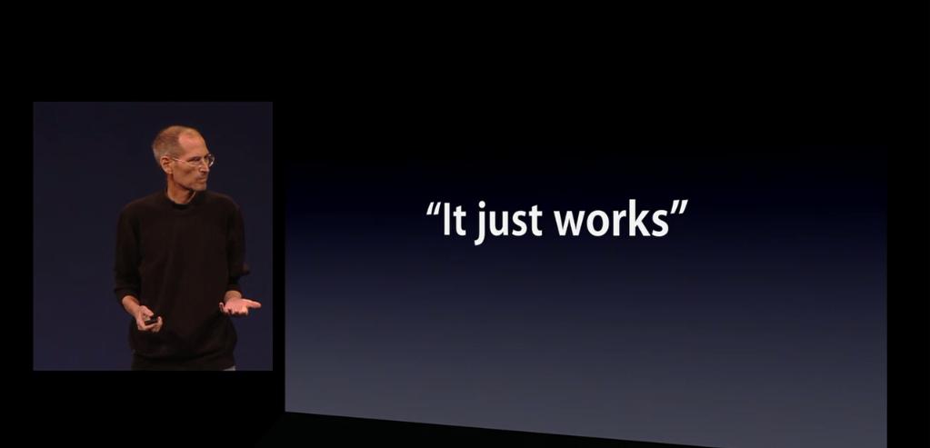 Apple : it just works