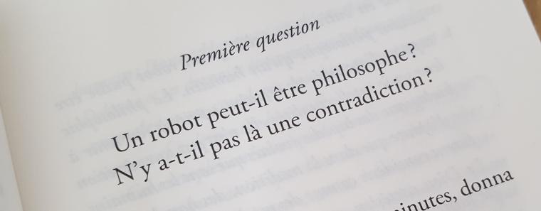 Un chatbot philosophe