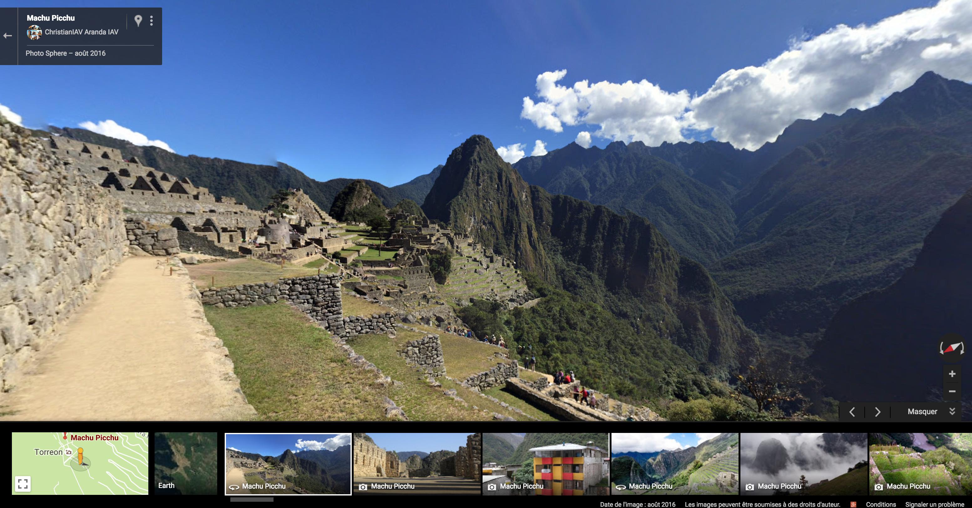 Machu Picchu sur Google Maps
